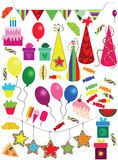 Holiday-New Year-Christmas-Birthday objects Royalty Free Stock Image