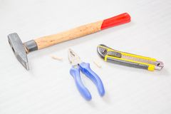Various home tools Stock Photo