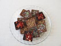 Various homemade chocolate bars Stock Image
