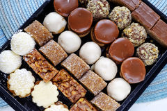 Various homemade sweets mix landscape top wide Royalty Free Stock Image