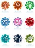 Various house icon set Stock Photography