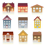 Various houses Stock Photo