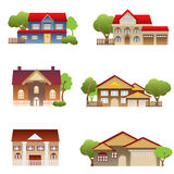 Various houses Royalty Free Stock Image