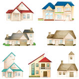 Various houses Stock Images