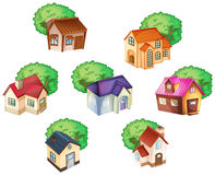 Various houses Stock Photos
