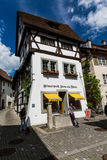Various houses in the old town of Stein am Rhein Royalty Free Stock Photo