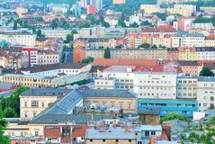 Various houses and streets in the city of Brno Royalty Free Stock Photo
