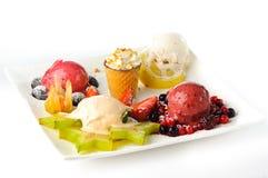Various ice creams stock photos