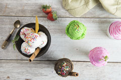 Various ice creams Royalty Free Stock Photos