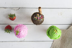 Various ice creams Royalty Free Stock Images
