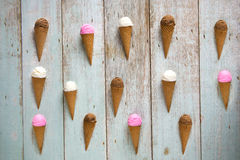 Various ice creams top down view Stock Images