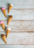 Various ice creams top down view Stock Photography