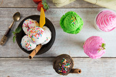 Various ice creams Stock Photography