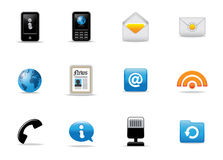 Various Icon Illustrations Stock Photography