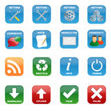 Various icons stock illustration
