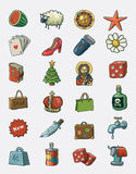 Various icons. Hand drawn  icon set Stock Photography