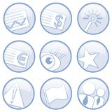 Various icons. A variety of illustrated icons suitable for commercial use royalty free illustration