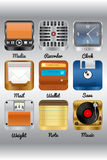 Various icons Royalty Free Stock Image