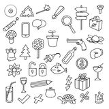 Various icons Royalty Free Stock Images