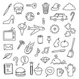 Various icons Stock Photography