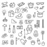 Various icons Royalty Free Stock Photos