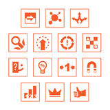 Various icons set. Set of various communication and system icons Stock Images