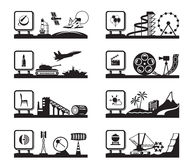 Various industries with logos Royalty Free Stock Images