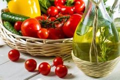 Various ingredients of fresh salad Royalty Free Stock Photos