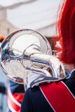 Various instruments and details from a music band of windband Royalty Free Stock Photos