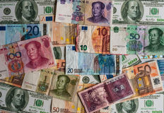 Various international currencies Stock Photo