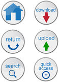 Various internet buttons Royalty Free Stock Photo