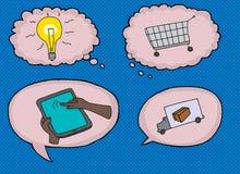 Various Internet Shopping Symbols Stock Images