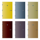 Various isolated detailed vector doors Stock Photos