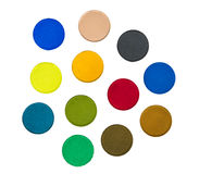 Various Isolated Paint Colors Stock Image