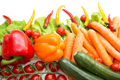 Various isolated vegetables Stock Image