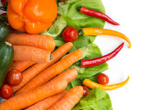 Various isolated vegetables Stock Photo