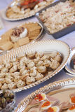 Various Italian Appetizers on Table Royalty Free Stock Photos