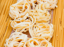 Various italian pastas Royalty Free Stock Photo