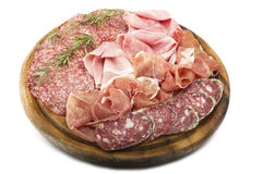Various Italian salami Stock Photos