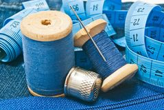Various items for needlework Royalty Free Stock Images