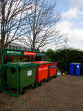 Various Items Recycling Drop-off Point Stock Images