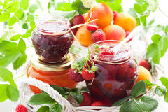 Various Jams In Jars Royalty Free Stock Photo