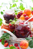 Various jams  in jars Stock Photography