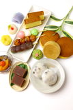 Various Japanese-style confectionery Stock Photography