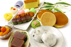 Various Japanese-style confectionery Royalty Free Stock Photos