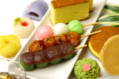 Various Japanese-style confectionery Royalty Free Stock Photo