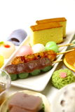 Various Japanese-style confectionery Stock Images