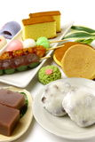 Various Japanese-style confectionery Stock Image