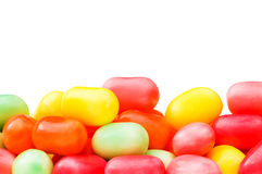 Various jelly beans isolated on the white Stock Photos