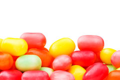 Various jelly beans isolated on the white Royalty Free Stock Image